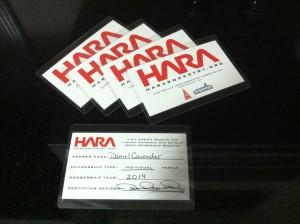 HARA Membersip Cards